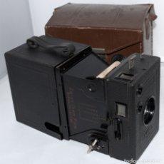 Cámara de fotos: CALIDAD.ZEISS IKON BOX TENGOR 54/2+FUNDA+FILM.PRIMER MODELO.ALEMANIA 1926.MUY BUEN ESTADO.FUNCIONA. Lote 180094656
