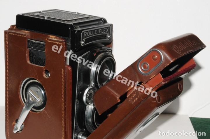 ANTIGUA ROLLEIFLEX EN FUNDA ORIGINAL. MAGNÍFICO ESTADO. VER FOTOS (Cámaras Fotográficas - Antiguas (hasta 1950))