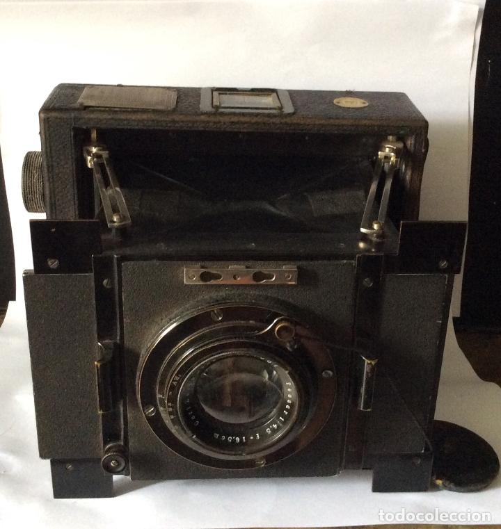 Cámara de fotos: MENTOR II FABRICK,CÁMARA DE FOTOS ALEMANA 1909-con maletín original - Foto 9 - 181927806