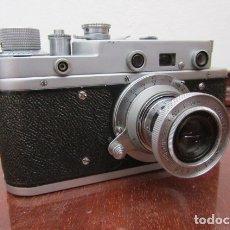 Cámara de fotos: ANTIGUA CÁMARA DE FOTOS FOTOGRÁFICA SOVIÉTICA RUSA URSS ALEMANA MODELO ZORKI TIPO LEICA II AÑO 1949. Lote 182716416