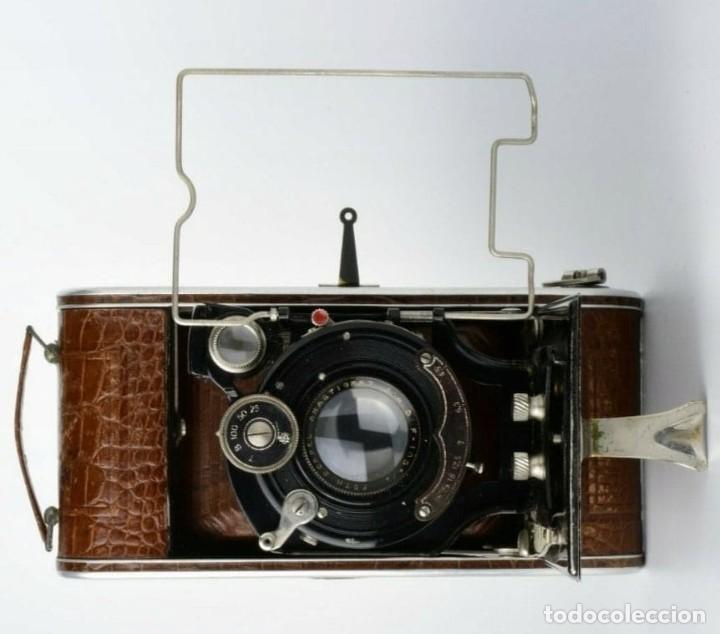 Cámara de fotos: Único antigua cámara kodak modelo Foth Cocodrilo !!! perfecto estado ,año 1930 funciona , PIEL - Foto 2 - 183622158
