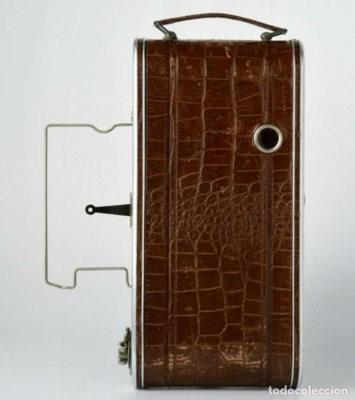 Cámara de fotos: Único antigua cámara kodak modelo Foth Cocodrilo !!! perfecto estado ,año 1930 funciona , PIEL - Foto 4 - 183622158