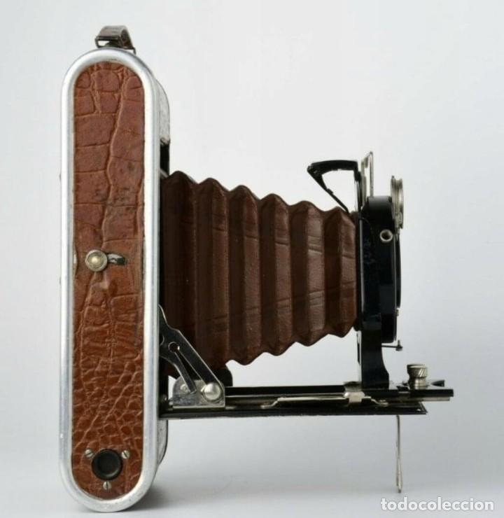 Cámara de fotos: Único antigua cámara kodak modelo Foth Cocodrilo !!! perfecto estado ,año 1930 funciona , PIEL - Foto 5 - 183622158