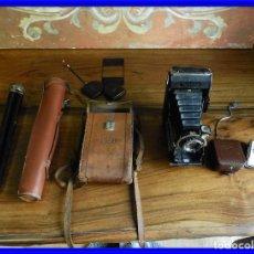 Cámara de fotos: CAMARA DE FOTOS DE FUELLE ZEISS IKONTA CON TRIPODE, FOTOMETRO LENTES MUY COMPLETA. Lote 187432177