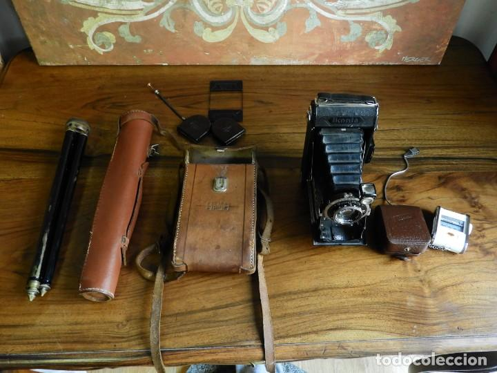 Cámara de fotos: CAMARA DE FOTOS DE FUELLE ZEISS IKONTA CON TRIPODE, FOTOMETRO LENTES MUY COMPLETA - Foto 17 - 187432177