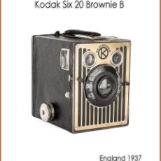 Cámara de fotos: KODAK SIX 20 BROWNIE B. FABRICADA POR KODAK EN INGLATERRA. MUY BUEN ESTADO.. Lote 187493786