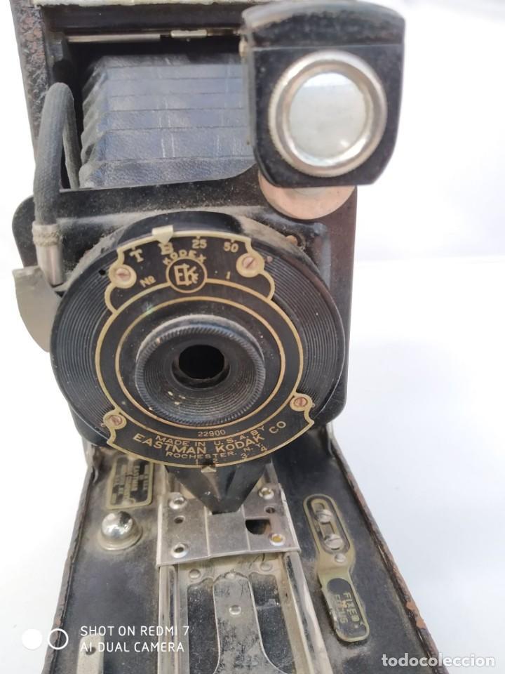 CAMARA KODAK N.1A POCKET-OBJETIVO KODEX Nº 1-EASTMANROCHESTER NEW YORK USA-FUELLE-FILM A116-1909. (Cámaras Fotográficas - Antiguas (hasta 1950))
