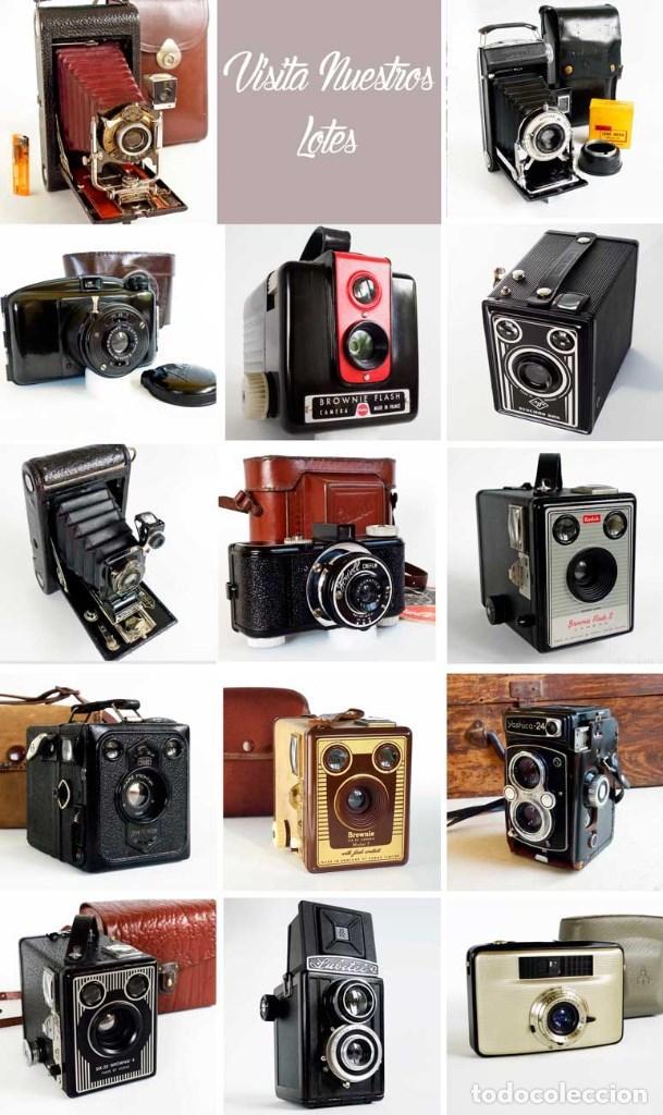 Cámara de fotos: CÁMARA CORONET TWELVE-20 MARRÓN 1950 CON CAJA ORIGINAL. - Foto 8 - 187520511