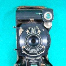 Cámara de fotos: KODAK-KODEX EASTMAN ROCHESTER N.Y.-U.S.A.-Nº 0.I POCKET-CAMARA FOTOGRAFICA MADE IN CANADA-AÑOS 15 ?.. Lote 189666112