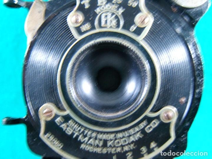 Cámara de fotos: KODAK-KODEX EASTMAN ROCHESTER N.Y.-U.S.A.-Nº 0.I POCKET-CAMARA FOTOGRAFICA MADE IN CANADA-AÑOS 15 ?. - Foto 2 - 189666112