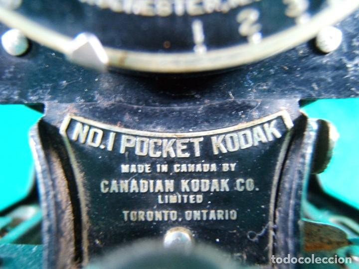 Cámara de fotos: KODAK-KODEX EASTMAN ROCHESTER N.Y.-U.S.A.-Nº 0.I POCKET-CAMARA FOTOGRAFICA MADE IN CANADA-AÑOS 15 ?. - Foto 3 - 189666112