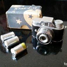 Appareil photos: MAQUINA DE FOTOS JAPONESA MINIATURA STAR-LITE CON 3 ROLLOS DE PELICULA EN CAJA ORIGINAL. Lote 191008091