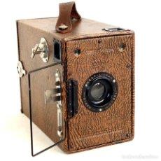 Cámara de fotos: CÁMARA HOUGHTON BUTCHER. BOX ENSIGN 2-1/4 B. RAREZA 1930. FUNCIONA. Lote 192552540