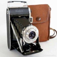 Cámara de fotos: CAMARA FUELLE KODAK STERLING II CON FUNDA. LONDON 1955. Lote 193868363
