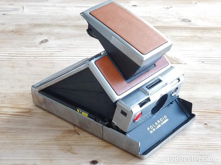 Cámara de fotos: Cámara instantánea marca Polaroid, modelo SX-70 - Foto 2 - 193997996