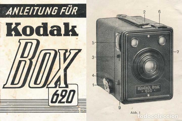 Cámara de fotos: CÁMARA KODAK BOX 620. ALEMANIA 1936. FUNCIONANDO - Foto 5 - 194177700