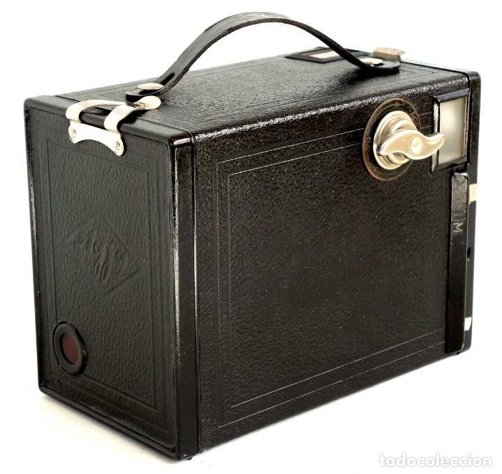 Cámara de fotos: ÚNICA EN TC. CÁMARA AGFA BOX 54. LA PRIMERA BOX DE AGFA EN ALEMANIA 1930. FUNCIONANDO - Foto 2 - 194222823