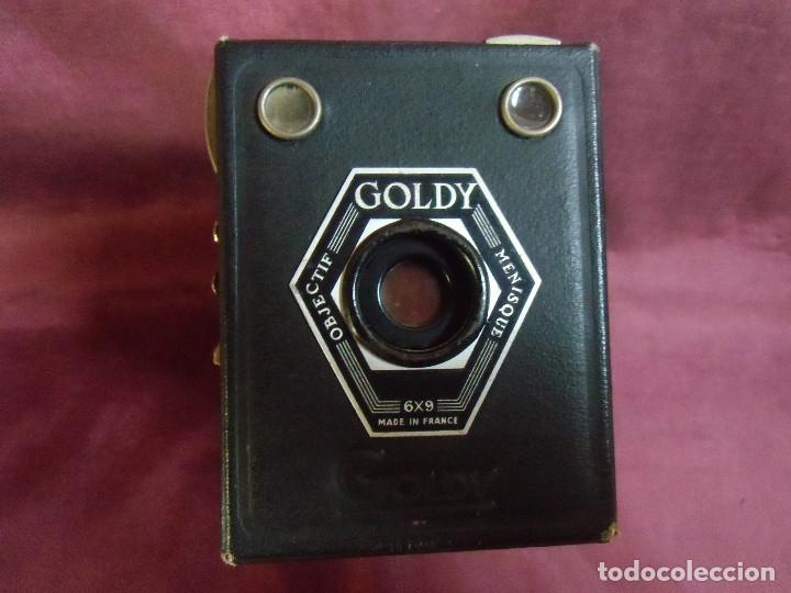 CAMARA GOLDY OBJECTIF MENISQUE 6X9 MADE IN FRANCE. (Cámaras Fotográficas - Antiguas (hasta 1950))
