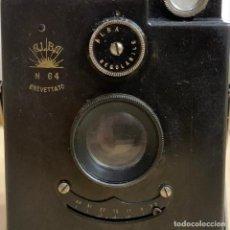 Cámara de fotos: ALBA 64 AÑO 1914 FABRICADA EN ITALIA . Lote 194265386