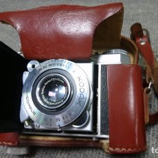 Câmaras de fotos: CÁMARA DE FOTOS KODAK RETINA CON ESTUCHE DE CUERO, OBJETIVO EXTRAIBLE. Lote 195892547