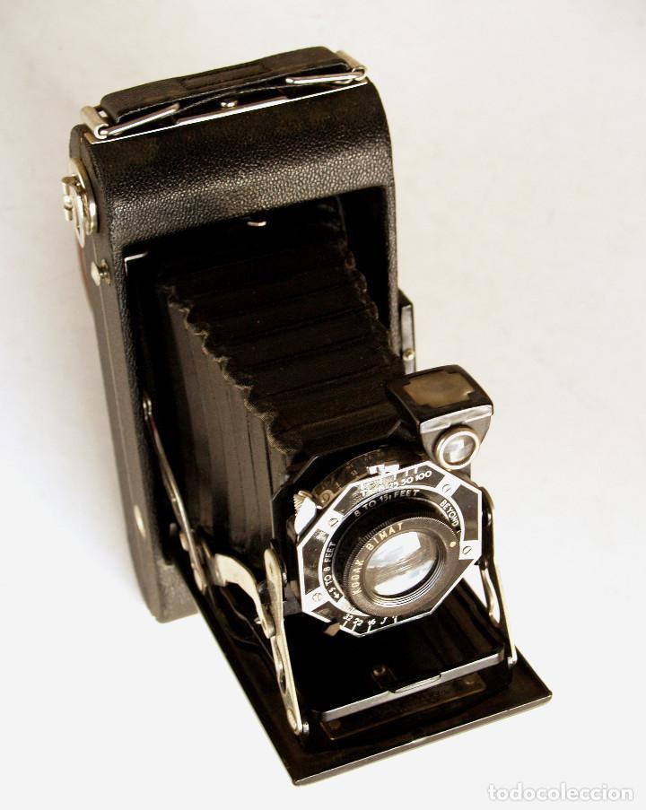 *C1938* • EASTMAN KODAK JUNIOR SIX-20 SERIES II ' ART DECÓ ' • FRONTAL OCTOGONAL (CON CAJA DE VENTA) (Cámaras Fotográficas - Antiguas (hasta 1950))