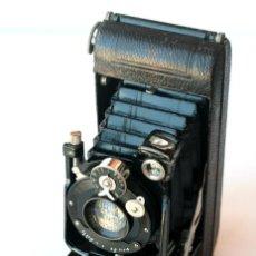 Cámara de fotos: *C1925* • BUTCHER'S WATCH POCKET CARBINE ALDIS 3.75 PULGADAS F4.5 ACME • FORMATO 6X9 FOLDING (FUNDA). Lote 197486368