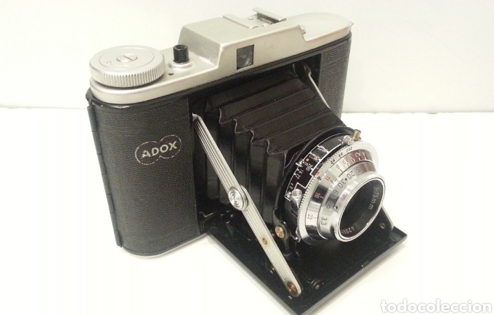 Cámara de fotos: ANTIGUA CAMARA FOTOGRAFICA DE FUELLE ADOX VARIO GOLF DE 1950. - Foto 7 - 198348858