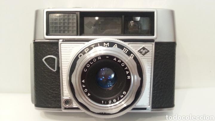 Cámara de fotos: ANTIGUA AGFA OPTIMA IIIS III S DE 1960. CON FUNDA ORIGINAL - Foto 4 - 198374158