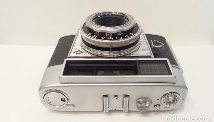 Cámara de fotos: ANTIGUA AGFA OPTIMA IIIS III S DE 1960. CON FUNDA ORIGINAL - Foto 9 - 198374158