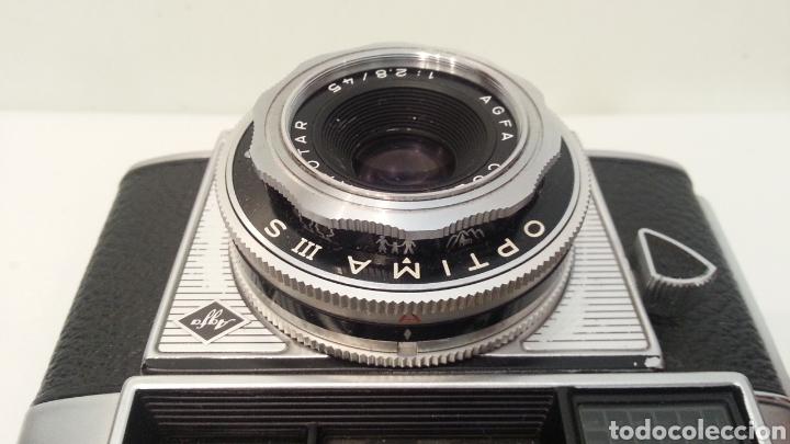 Cámara de fotos: ANTIGUA AGFA OPTIMA IIIS III S DE 1960. CON FUNDA ORIGINAL - Foto 14 - 198374158