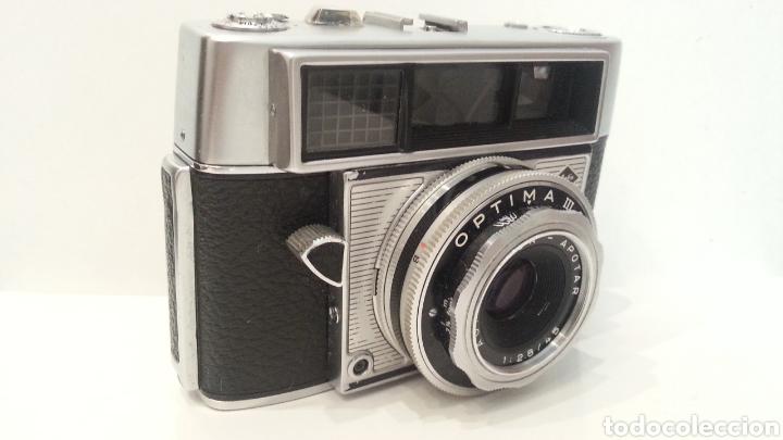 Cámara de fotos: ANTIGUA AGFA OPTIMA IIIS III S DE 1960. CON FUNDA ORIGINAL - Foto 15 - 198374158