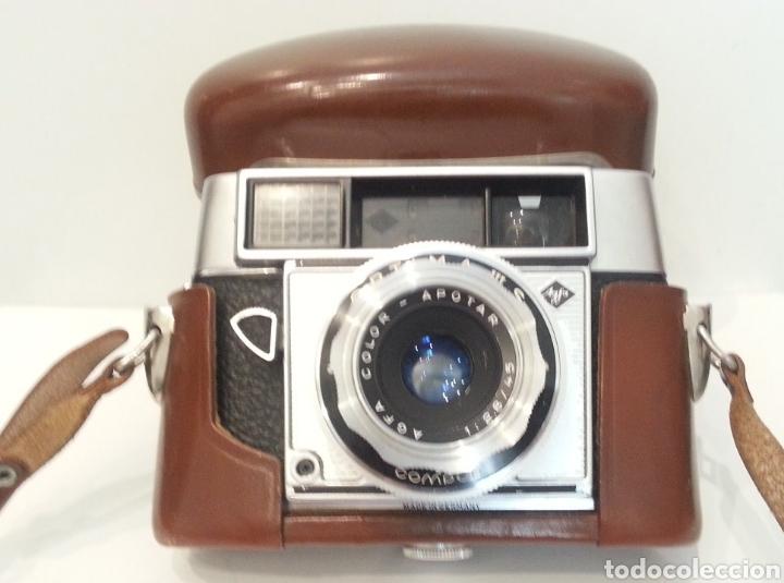 Cámara de fotos: ANTIGUA AGFA OPTIMA IIIS III S DE 1960. CON FUNDA ORIGINAL - Foto 17 - 198374158