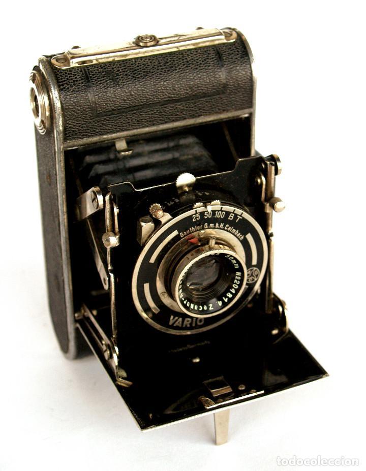 Cámara de fotos: *c1932* • Zeca (Zeh Camera Fabrik) GOLDI Obj. Zecanar f4.5 • RARA y pequeña folding 3x4 - Foto 4 - 198752143