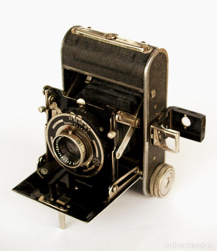 *C1932* • ZECA (ZEH CAMERA FABRIK) GOLDI OBJ. ZECANAR F4.5 • RARA Y PEQUEÑA FOLDING 3X4 (Cámaras Fotográficas - Antiguas (hasta 1950))