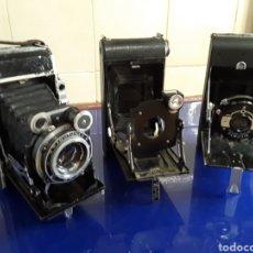 Cámara de fotos: 3 ANTIGUAS CÁMARAS DE FUELLE. Lote 199716563