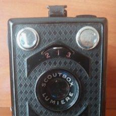 Cámara de fotos: CÁMARA SCOUTBOX LUMIERE CON FUNDA. Lote 199855648