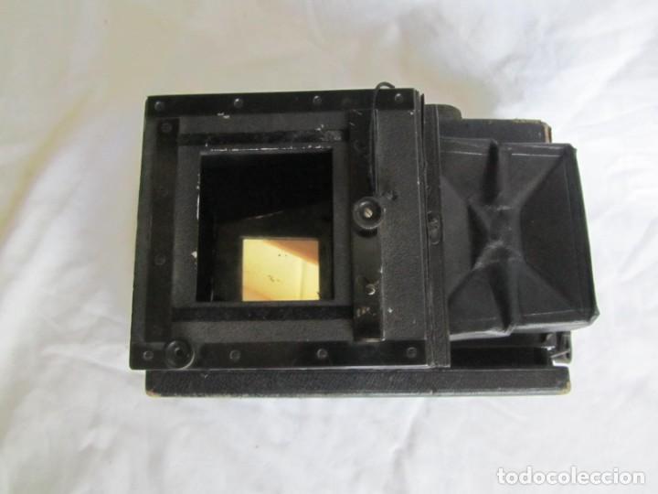 Cámara de fotos: Cuerpo de cámara de placas Mentor Folsing Reflex, principios siglo XX, sin objetivo - Foto 2 - 209354337