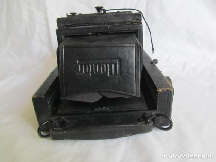 Cámara de fotos: Cuerpo de cámara de placas Mentor Folsing Reflex, principios siglo XX, sin objetivo - Foto 4 - 209354337