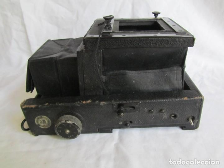 Cámara de fotos: Cuerpo de cámara de placas Mentor Folsing Reflex, principios siglo XX, sin objetivo - Foto 5 - 209354337