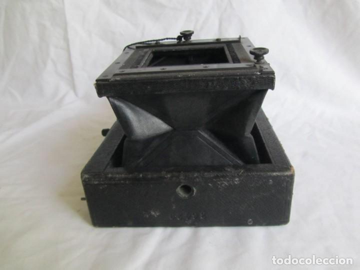 Cámara de fotos: Cuerpo de cámara de placas Mentor Folsing Reflex, principios siglo XX, sin objetivo - Foto 6 - 209354337