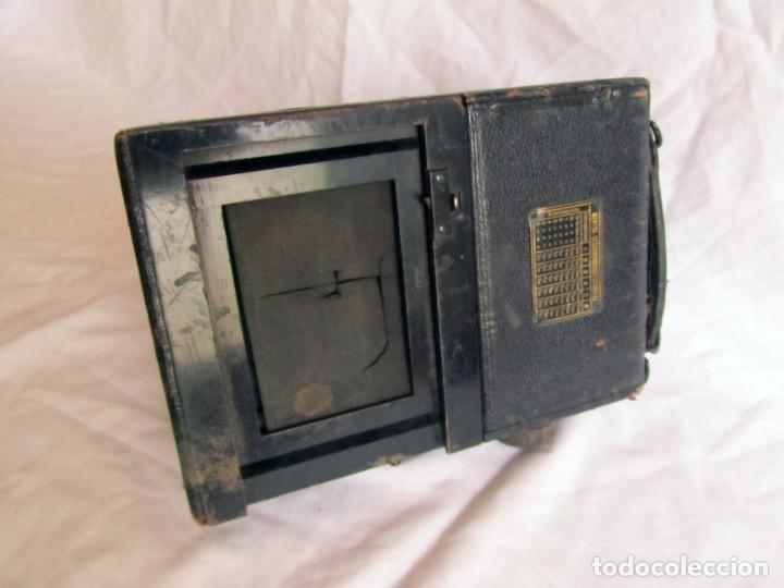 Cámara de fotos: Cuerpo de cámara de placas Mentor Folsing Reflex, principios siglo XX, sin objetivo - Foto 7 - 209354337