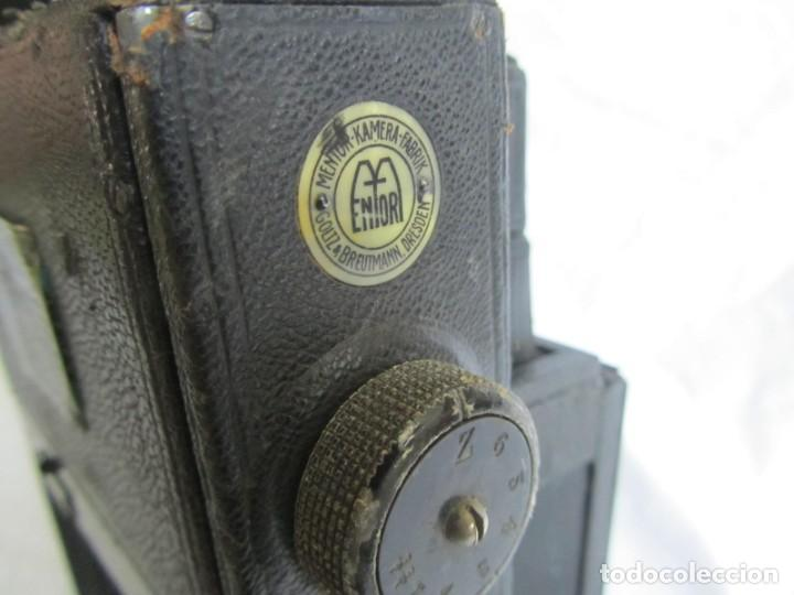 Cámara de fotos: Cuerpo de cámara de placas Mentor Folsing Reflex, principios siglo XX, sin objetivo - Foto 9 - 209354337
