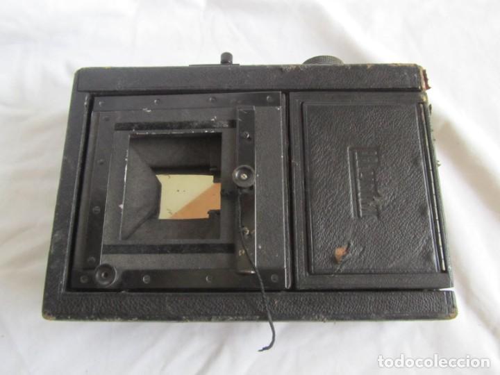 Cámara de fotos: Cuerpo de cámara de placas Mentor Folsing Reflex, principios siglo XX, sin objetivo - Foto 12 - 209354337
