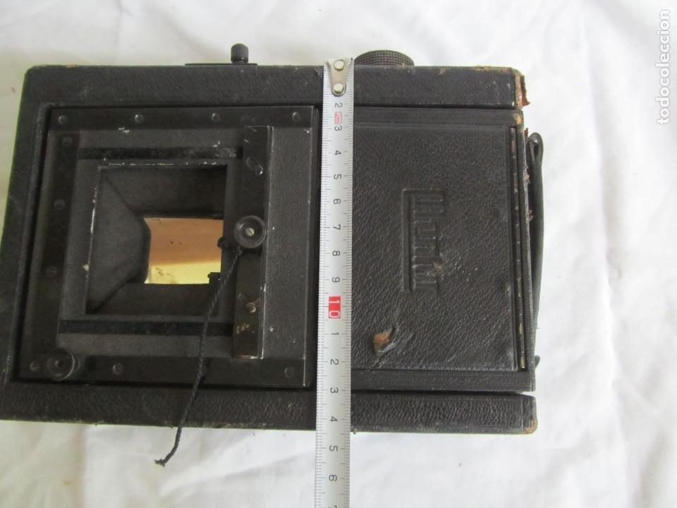Cámara de fotos: Cuerpo de cámara de placas Mentor Folsing Reflex, principios siglo XX, sin objetivo - Foto 15 - 209354337