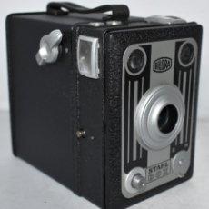 Cámara de fotos: MUY BUEN ESTADO..METALICA..GRAN CAMARA ANTIGUA DE CAJON..BILORA STAHL BOX...ALEMANIA 1949...FUNCIONA. Lote 209855540