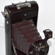 Cámara de fotos: ESPECTACULAR CAMARA ANTIGUA DE FUELLE..INGLATERRA 1930..SOHO CADET+FUNDA.BAQUELITA GRANATE..FUNCIONA. Lote 209858170