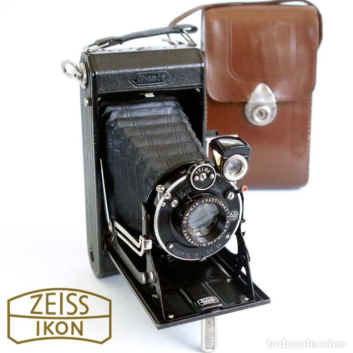 CÁMARA FUELLE ZEISS IKON IKONTA ANASTIGMAT C520/2 GERMANY 1931 Y FUNDA CUERO (Cámaras Fotográficas - Antiguas (hasta 1950))