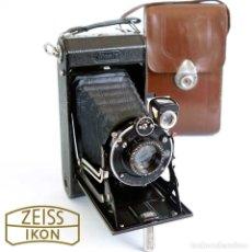 Cámara de fotos: CÁMARA FUELLE ZEISS IKON IKONTA ANASTIGMAT C520/2 GERMANY 1931 Y FUNDA CUERO. Lote 211755900
