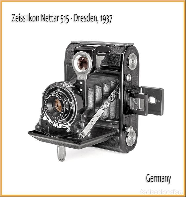ZEISS IKON NETTAR 515. CAMARA PLEGABLE ALEMANA DE 1937, MEDIO FORMATO. IMPECABLE ESTADO. (Cámaras Fotográficas - Antiguas (hasta 1950))