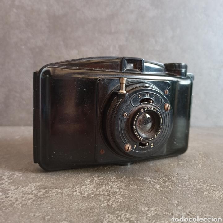 ANTIGUA CÁMARA DE FOTOS BOYER PARIS SERIE VIII CON SU FUNDA * BAQUELITA (Cámaras Fotográficas - Antiguas (hasta 1950))